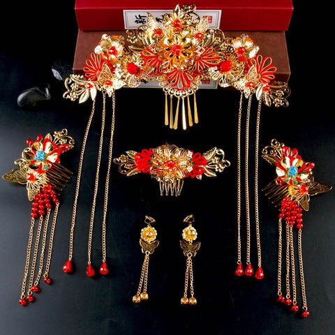 Chinese Bridal Jewelry Hair Clips WY3019