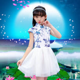 Kids Cheongsam Birthday Party Cute Princess Dress XE8066