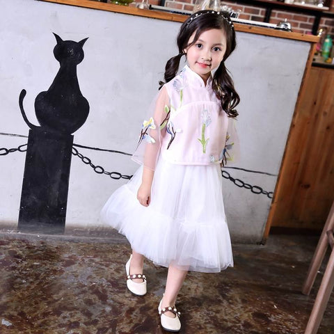 Girls Two-Piece For Kids Cute Princess Dress XE8068
