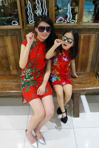 mini cheongsam dress