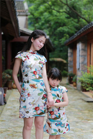 mom and children's chinese dress