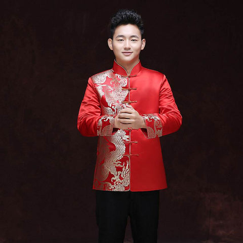 red groom top