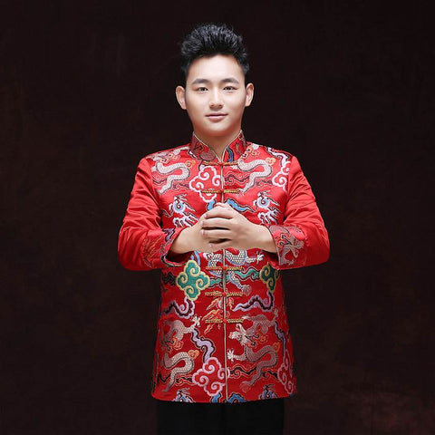 chinese style groom attire