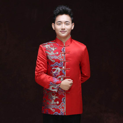 chinese style men wedding top