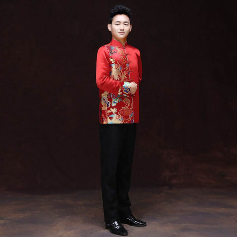 men's wedding tang coat