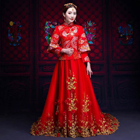 chinese wedding dress qun kua