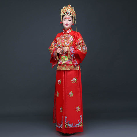 chinese festive red qipao