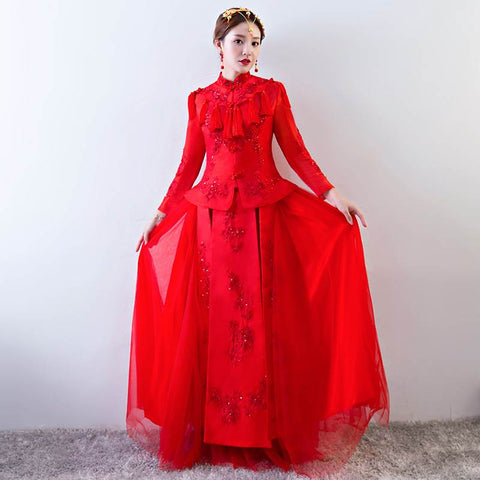 chinese style bridal dress