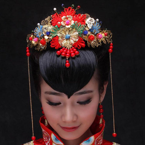 Chinese Wedding Bridal Hair Clips