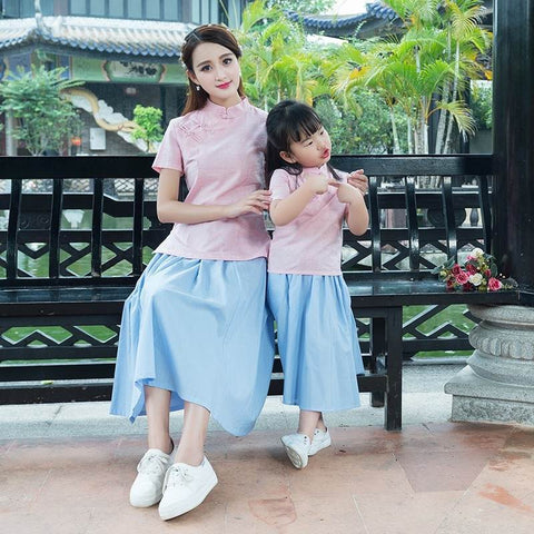 mother and daughter cheongsam