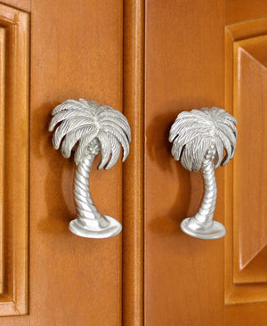 Palm tree cabinet knobs - matched set