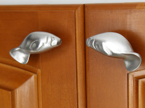 Manatee cabinet knob matched set
