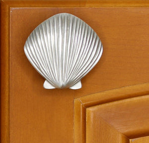 Scallop Seashell Cabinet Knobs for Coastal Kitchen or Bathroom Decor | Sea Life Cabinet Knobs
