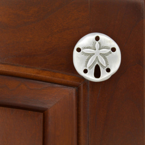 fine detailed sand dollar shell cabinet knob