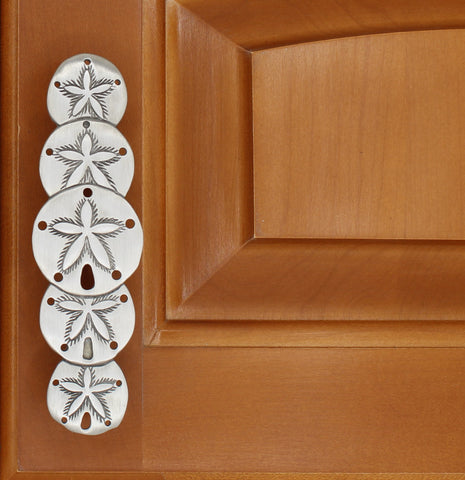 5 Shell Sand Dollar Cabinet Pull