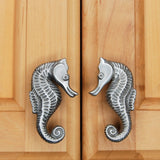 Seahorse cabinet knob for nautical room decor