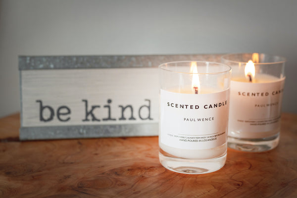 Coastal scented candles
