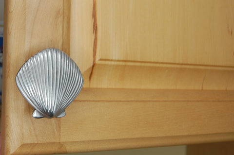 Scallop shell cabinet knob by Peter Costello