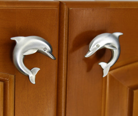 Matching dolphin cabinet knob set