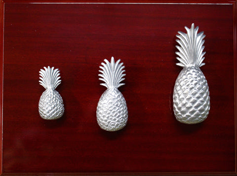 All 3 sizes of pineapple cabinet knobs and pull.