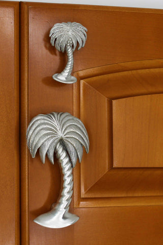 palm tree knobs and pulls - both sizes