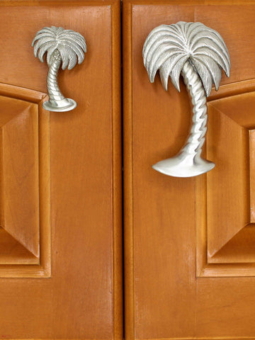 palm tree cabinet knob and pull
