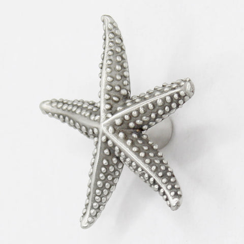 Pewter Starfish Knob by Peter Costello