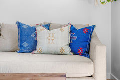 Coastal colored pillows