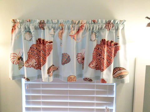 Sea shell valance by Kelley Chiavaroli