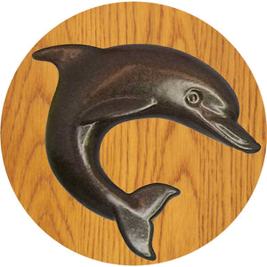Small dolphin knob - right facing - dark bronze