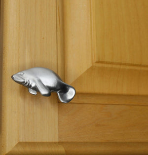 Manatee Cabinet Knob, 104L, Samll size, Left Facing, - Sea Life Cabinet Knobs
