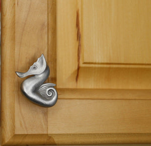 Seahorse Cabinet Knob, 102L, Small Size - Sea Life Cabinet Knobs