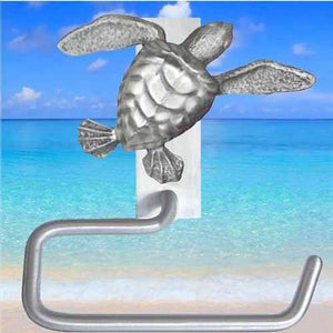 Sea Turtle Toilet Paper Hanger, 225 - Sea Life Cabinet Knobs