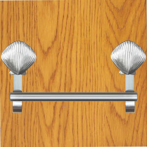 scallop shel towel bar