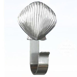 Scallop Shell Robe Hook 190 - Sea Life Cabinet Knobs
