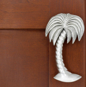 Palm Tree Cabinet Handle, 169R, Large size, Right Leaning - Sea Life Cabinet Knobs