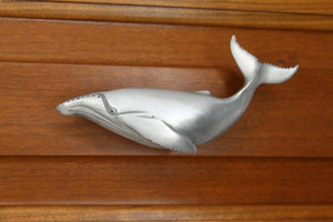 Humpback Whale Cabinet Pull, 274L, Large size, Left facing - Sea Life Cabinet Knobs
