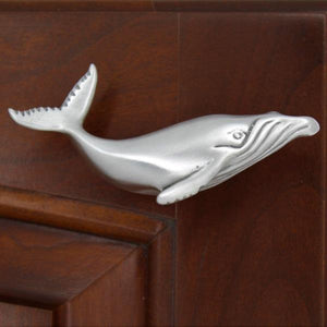Humpback Whale Cabinet Knob, 303R, Small size, Right facing - Sea Life Cabinet Knobs