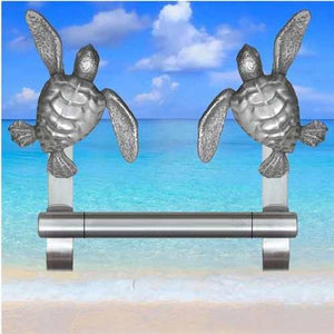 Sea Turtle Towel Bar, 237 - Sea Life Cabinet Knobs
