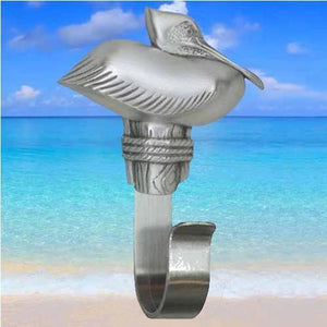 Pelican Towel Hook, 316 - Sea Life Cabinet Knobs