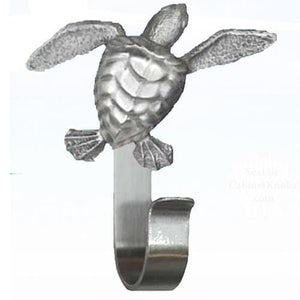 Sea Turtle Robe Hook, 196 - Sea Life Cabinet Knobs