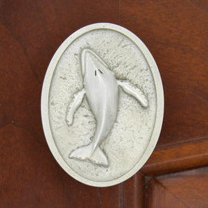 Humpback Whale Cabinet Knobs, 125L, Small size, Left facing - Sea Life Cabinet Knobs