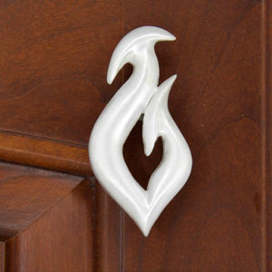Fish Hook Cabinet Knob, 164R, Small size, Right facing - Sea Life Cabinet Knobs