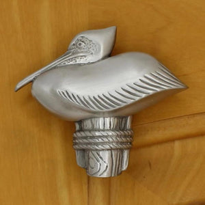 Pelican Cabinet Knobs, 100L, Small size, Left Facing - Sea Life Cabinet Knobs