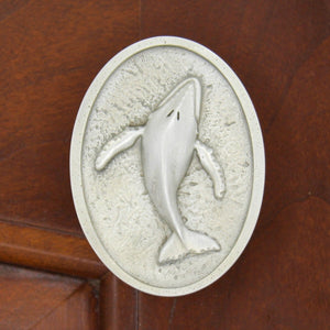 Humpback Whale Drawer Knobs, 125R, Small size, Right facing - Sea Life Cabinet Knobs