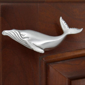 Humpback Whale Cabinet Knob, 303L, Small size, Left facing - Sea Life Cabinet Knobs