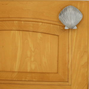 Scallop Cabinet Pulls, 155, Large Size - Sea Life Cabinet Knobs