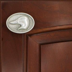Mallard Head Cabinet Knobs, 131L, Small size, Left Facing - Sea Life Cabinet Knobs