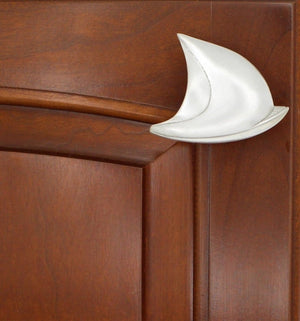 Sailboat Cabinet Knob, 200R, Medium size, Right Facing - Sea Life Cabinet Knobs