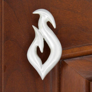 Fish Hook Cabinet Knobs, 164L, Small size, Left opening - Sea Life Cabinet Knobs